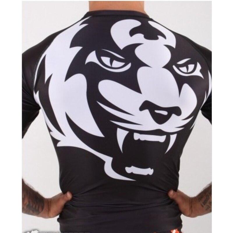 Men's Sweatshirt Tight Boxing Tiger Wear Black And White Clothes Boxing Sweatshirt Mens Shorts Mma Fight Shorts Boxing Wrestling