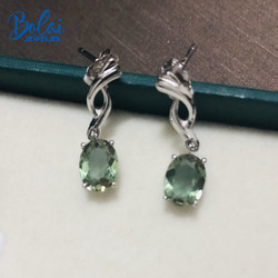 Bolai Color Changing Zultanit Dangle Earrings 100% 925 Sterling Silver Nano Diaspore Gemstone Fine Jewelry For Women Girls Gift