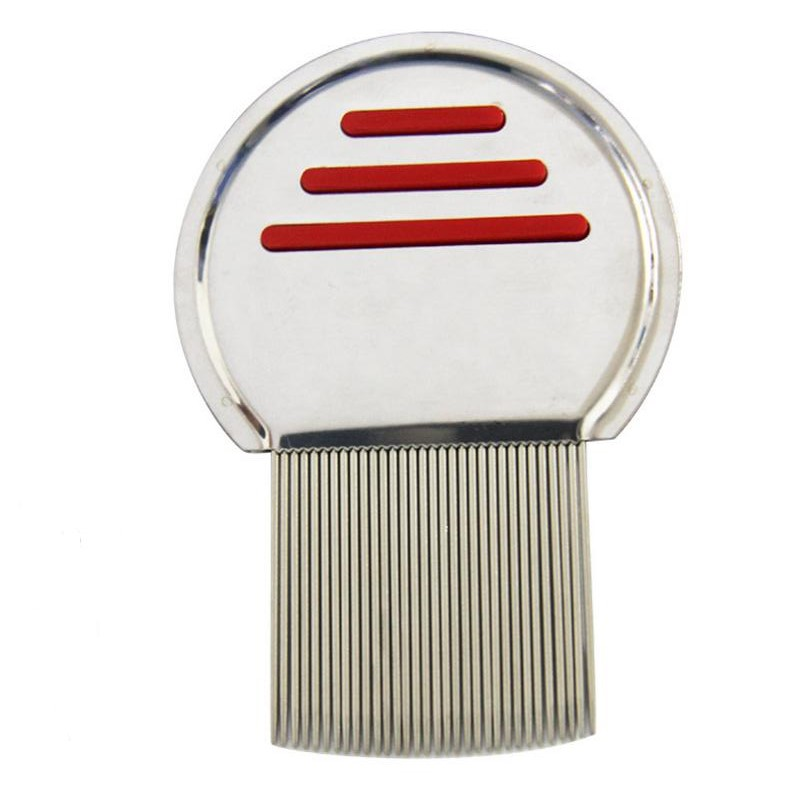 Wholesale Terminator Lice Comb Nit Free Kids Hair Rid Head lice stainless steel Metal Teeth remove brush LX1091