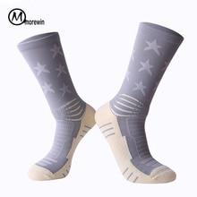 Aukštos kokybės naujos prekės Anti-Slip Soccer Socks 1pair Cotton Football Kits Vyrai Dviračiai Kojinės kojinės