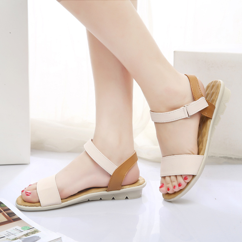 где купить Women Flat Sandals 2017 Fashion Women Summer Shoes Wedge Sandals Ladies Shoes Brand Sandalias Chaussure Femme по лучшей цене