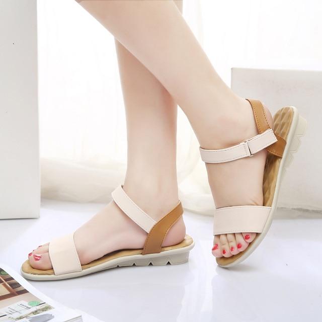 1fa6f411ba3 Women Flat Sandals Fashion Women Summer Shoes Wedge Sandals Ladies Shoes  Brand Sandalias Chaussure Femme