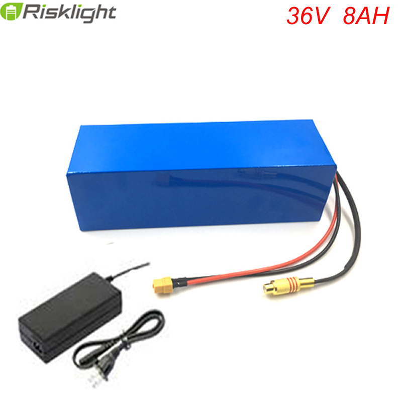 US EU No Tax High quality 36V 500W Electric Bicycle Ebike Battery 36V 8Ah Lithium ion Battery Pcak with 15A BMS 2A Charger eu us free tax 36v 500w 350w ebike 36v 17ah bottle battery pack electric bike dolphin lithium battery with usb and bms