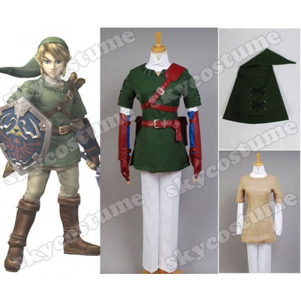 The Legend of Zelda Zelda Link Cosplay Costume Outfit
