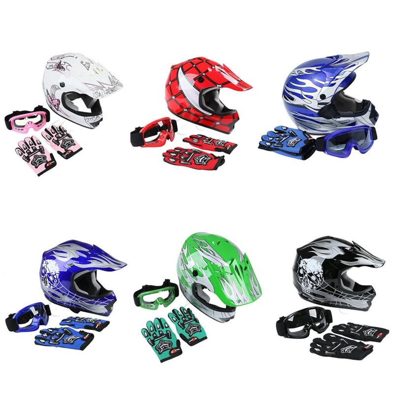 Motorcycle Helmets DOT Dirt Bike Gear Motocross ATV Full Face Helmet S//M//L//XL