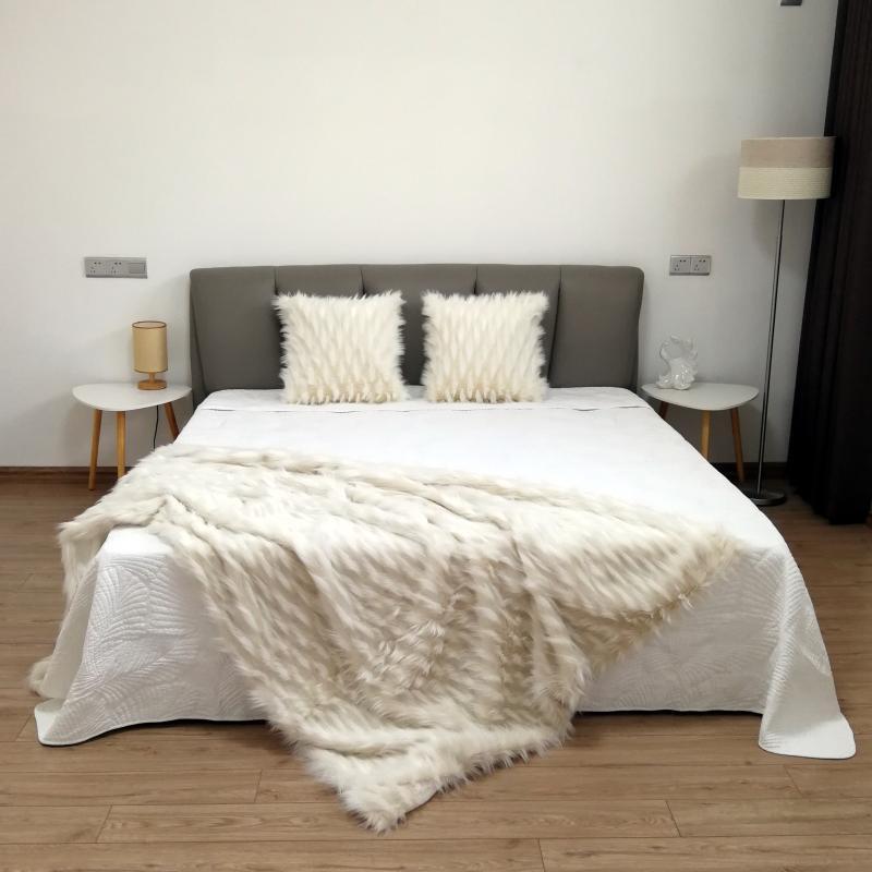 Wykwintne żakardowe koc futro skórzane koc uroda miękkie domu rzut strona główna czysta domu łóżko turystyczne sofa FG1098 w Narzuty od Dom i ogród na  Grupa 2
