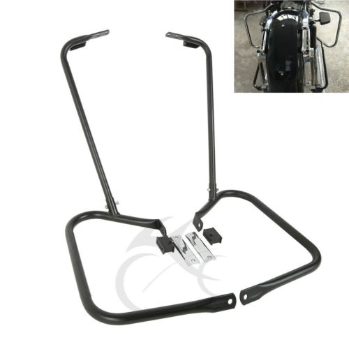 Rear Saddlebag Bracket Guard W/ Support Bar For Harley Touring FLHT FLHR 97-08 Electra Glide Road King Classic FLHTC