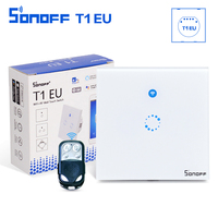 Sonoff T1 EU Smart Wifi Wall Touch Light Switch 1 2 Gang Glass Panel WiFi 433