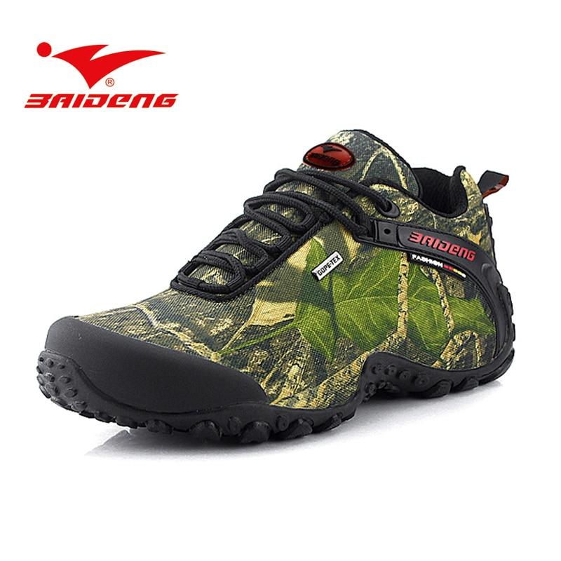 ФОТО Baideng men hiking shoes waterproof outdoor Climbing Sport Shoes Trekking hiking boots Shoes sneakers men zapatillas hombre