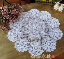 Christmas essential Handmade Crochet Flower Round Coffee Tablecloths Cotton Table cloth Doilies Cover cloth Home Textiles