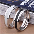 2016 High Quality Fashion lover Titanium Steel Finger Rings Couple Party Jewelry Wedding Engagement   Vintage Jewelry sa7005