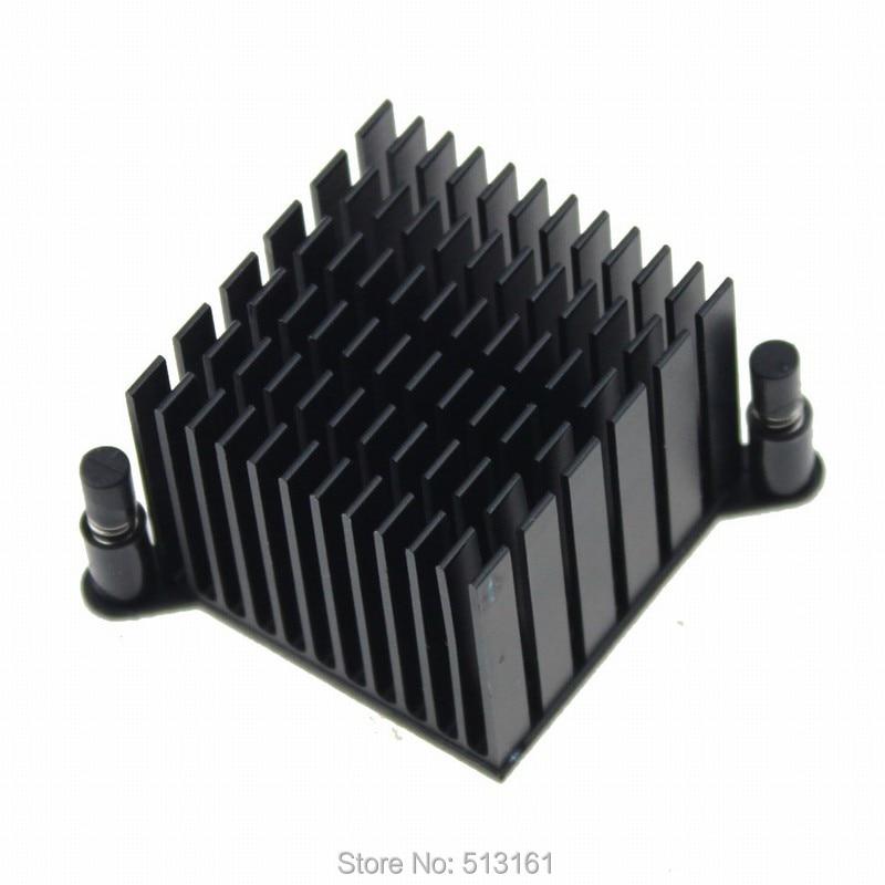 38x38x30mm Black Anodized Mini Cooling Aluminum Cooler Northbridge Heatsink цена и фото