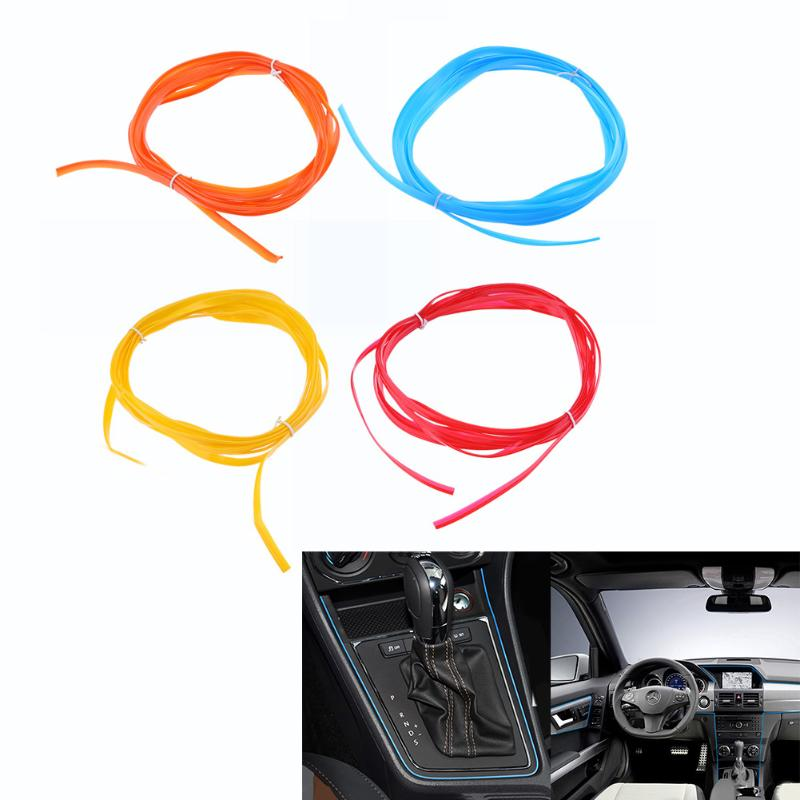 5M Car Interior Moulding Trims Decoration Line Strips Auto Accessories Car-styling Door Dashboard Air Outlet Decorative Sticker