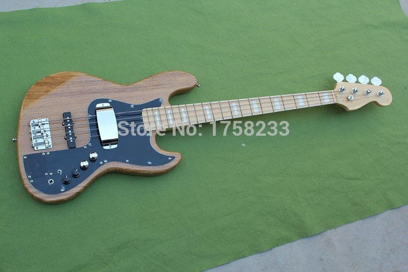 . Бесплатная доставка Новое поступление Байши F Маркус Миллер Подпись Jazz Bass 4 Strings Natural Цвет электрический бас Гитары