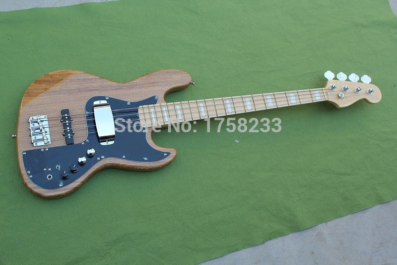 . Free Shipping New Arrival Baixo F Marcus Miller Signature Jazz Bass 4 Strings Natural Color Electric bass Guitar forever