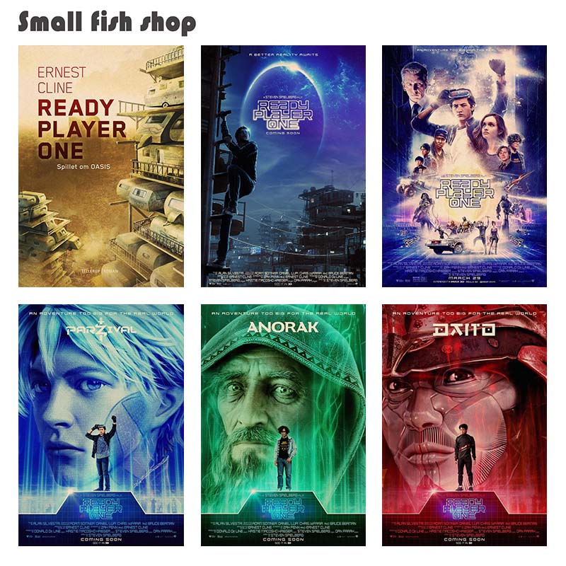 Ready Player One Home Furnishing decoration Kraft Movie Poster Drawing core Wall stickers