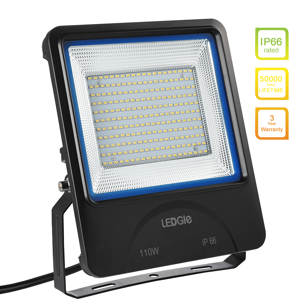 LEDGLE LED Flood Lights Outdoor Floodlights Waterproof LED Wall Washer Equal to Halogen Lamps Daylight White Efficent LED Chip 1000led led gas station light 150w 16 000 lumen 500w 650w hid hps equal daylight 5 000 kevin ac100 277v waterproof ip65 canopy