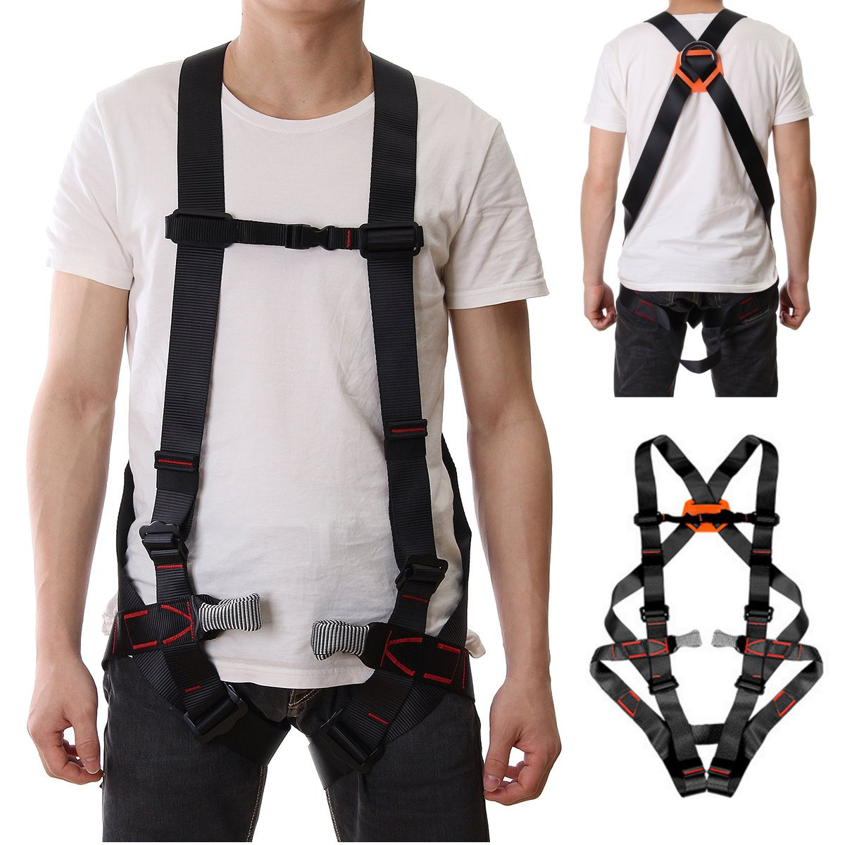 800KG Outdoor Sports Safety Belt Rope Climbing Safety Waist Belt Protection Equipment Safety Harness Body Protecting