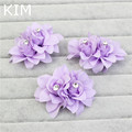 3pcs/lot ivory red pink purple Flower Crystal Wedding Bridal Hair Accessory Bridesmaid Barrette Hairpins Wholesale gift HG1103