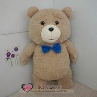 Miễn phí Vận Chuyển Plush Toy Teddy bear 45 cm Cao thú nhồi bông Một mảnh Người Đàn Ông của Ted Gấu món quà cưới trẻ em giáng sinh toy mềm doll
