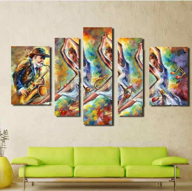 5pcs Diy Diamond Painting Cross Stitch 5D Painting Abstract character dance Diamond Painting Home Decoration