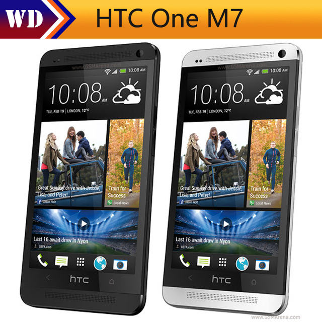 US $65 0 10% OFF|Original HTC One m7 Unlocked Cell Phone Quad Core 4 7