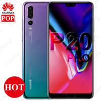 Original Huawei P20 Pro Mobile Phone 6.1 inch 4G LTE Kirin 970 Octa Core 6GB 128GB face unlock 4000mAh SuperCharge GPU Turbo