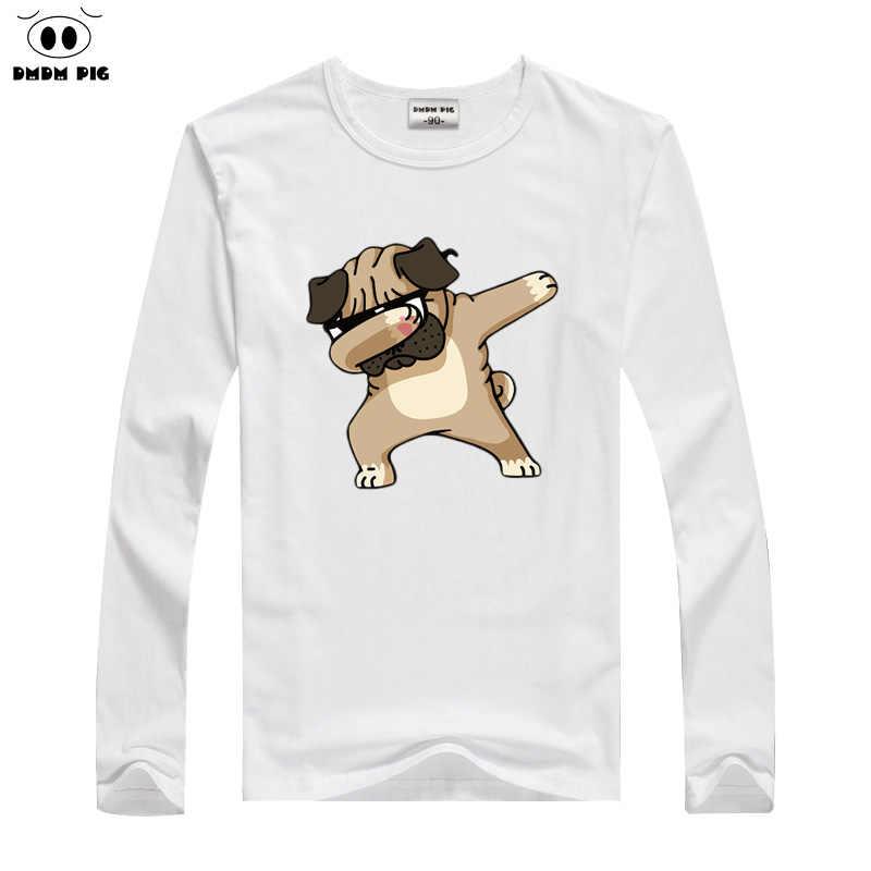 DMDM PIG/детская зимняя футболка футболки с длинными рукавами с забавными рисунками для мальчиков и девочек, топы, Детские футболки для 2, 3, 4, 5, 6, 7, 8 лет