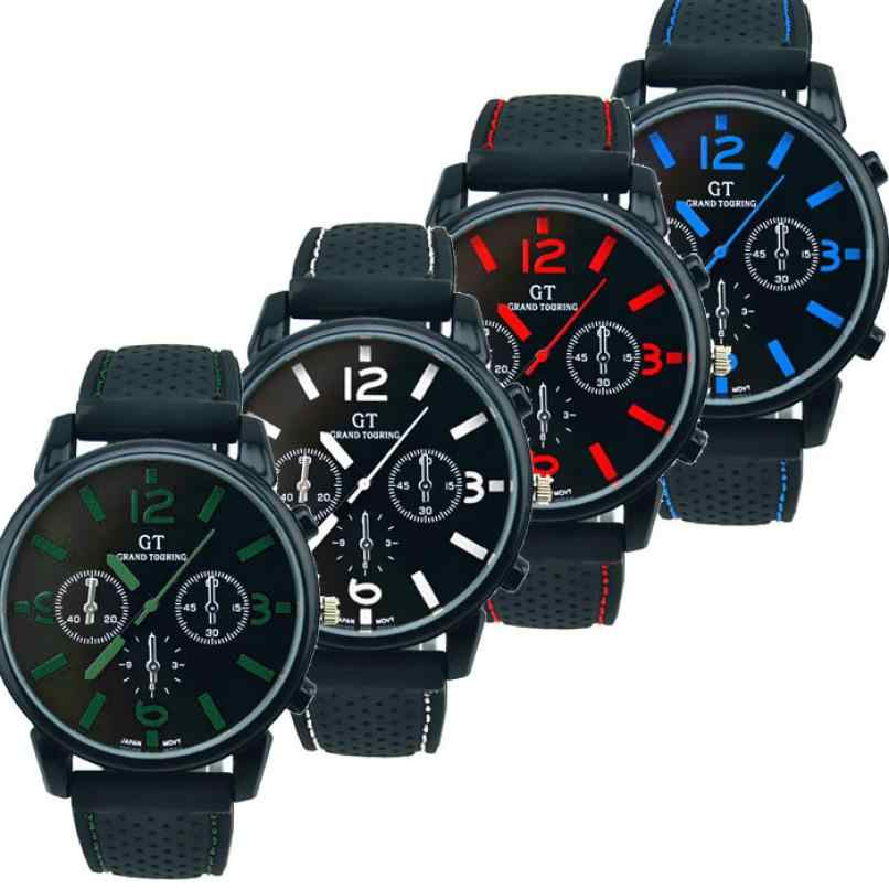 Pria Warna QUARTZ Watch Pria Fashion Stainless Steel Sport Cool Kuarsa Jam Tangan Analog Sex Kol Saati