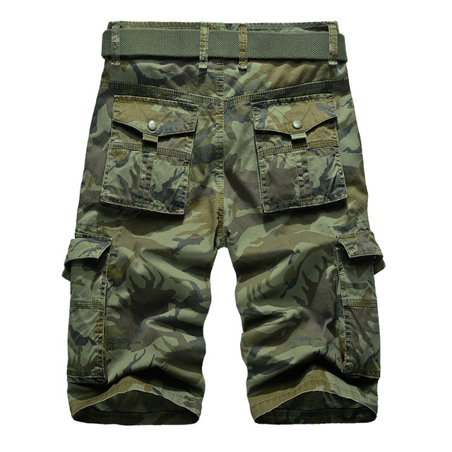 Camouflage Cargo Shorts Men 2018 New Mens Casual Shorts Male Loose Work Shorts Man Military Short Pants Plus Size 29-44 No Belt 2