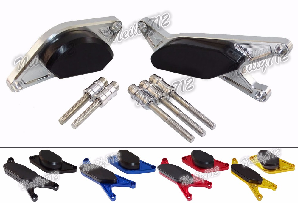 Motorcycle Left & Right Engine Crash Pads Frame Sliders Protector For SUZUKI GSR400 GSR600 GSR 400 600 2006 2007 2008 2009-2011 aftermarket free shipping motorcycle parts eliminator tidy tail for 2006 2007 2008 fz6 fazer 2007 2008b lack