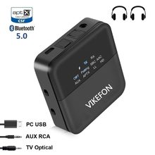 De Audio Bluetooth 5,0 transmisor receptor de AUTO en el adaptador para TV/coche/SPDIF/3,5mm y la pantalla de visualización aptX HD aptX le baja latencia(China)
