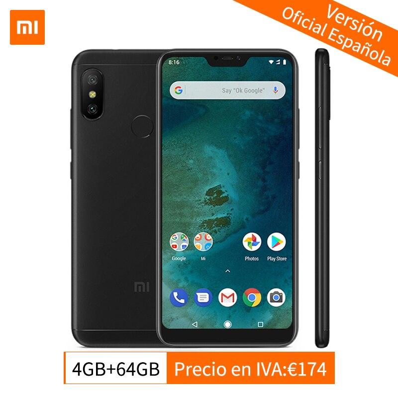 Mondial Version Xiao mi mi A2 Lite 4 gb 64 gb Mobile Téléphone Snapdragon 625 Octa base 5.84 Full écran AI Double Caméras Android 8.1 CE