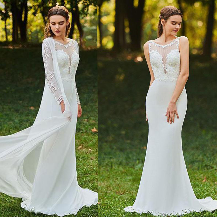 Scoop Neckline Bridal Gowns