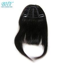 BHF человеческие волосы, челка, 8 дюймов, 20 г, прямые волосы Remy на заколках, натуральные волосы с бахромой, 3 зажима, передняя челка