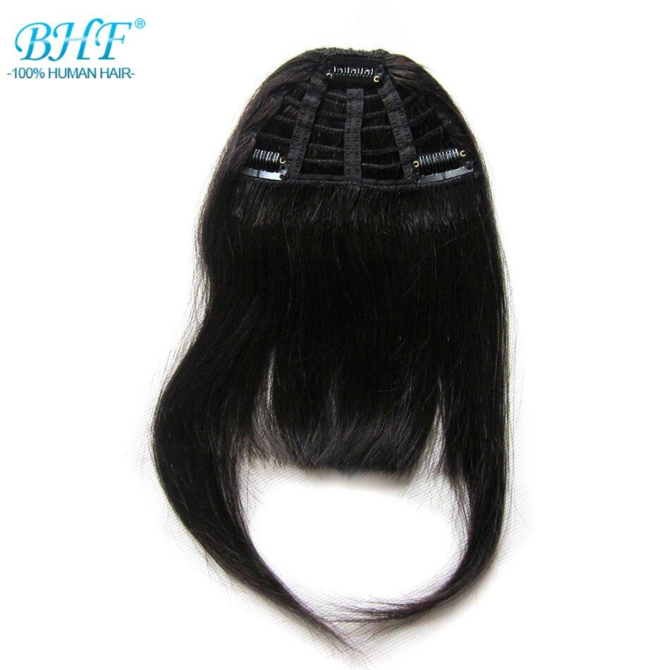 BHF Frange de Cheveux Humains 8 pouces 20g clip dans Droit Remy Naturel Frange Cheveux