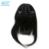 BHF Human Hair Bangs 8inch Clip In Straight Brazilian Remy Fringe Hair