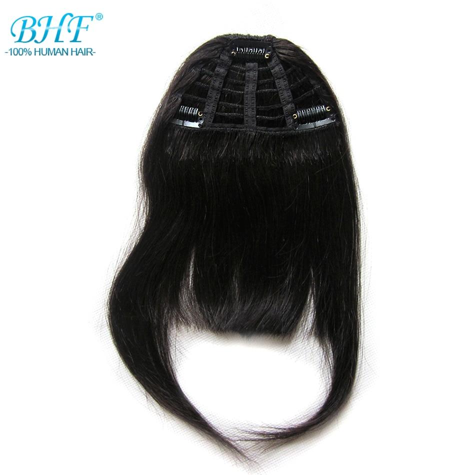 Bhf Menschliches Haar Pony 8 Zoll 20g Clip In Gerade Remy Natürliche Fringe Haar Quell Sommer Durst Haarteile