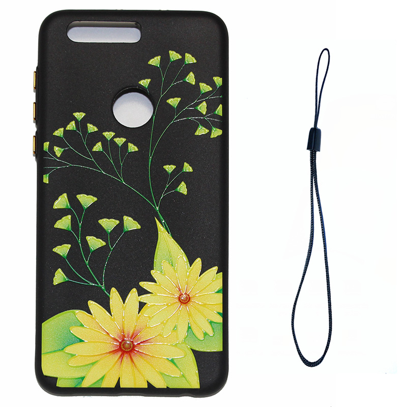 3D Relief flower silicone case huawei honor 8 (9)
