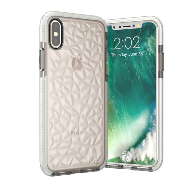 newest e9c21 9db59 US $4.99 |Newest Anti Knock Evo gem Grid Impact D3O+TPU Back Phone Case  Cover For iphone x diamond pattern-in Fitted Cases from Cellphones & ...