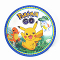 7inch 10pcs/lot Pikachu party environmental protection food grade paper plate Pokemon kids birthday party supplies