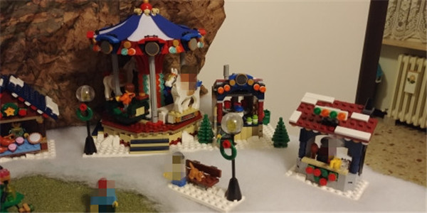 1412Pcs The Winter Village Market Set Assemblage Compatible Lepins Building Blocks Bricks Educational Toys Gifts lepin 36010 creative series 1412pcs the winter village market set 10235 building blocks bricks educational toys christmas gifts