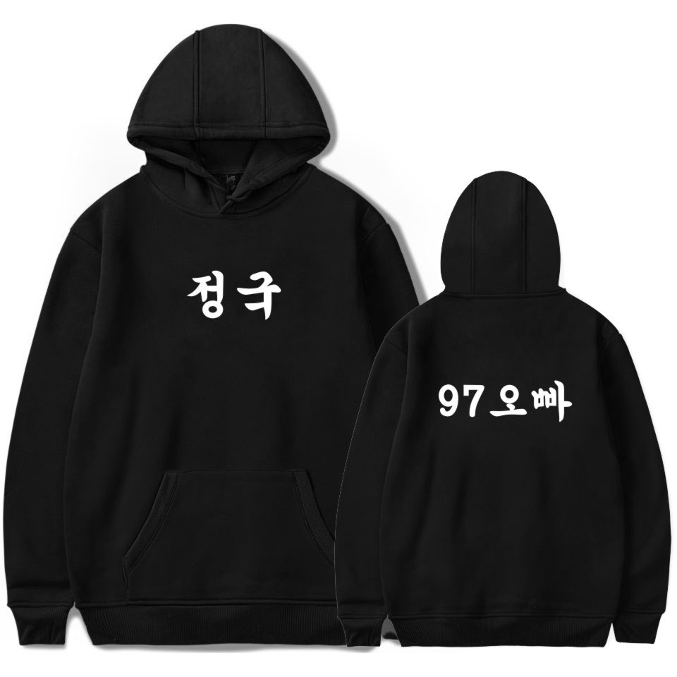 BTS K-Pop Bangtan Boys Member's Korean Name Printing Hoodies Sweatshirts Women Fans Sweatshirt Hip Hop Popular Idol Clothes