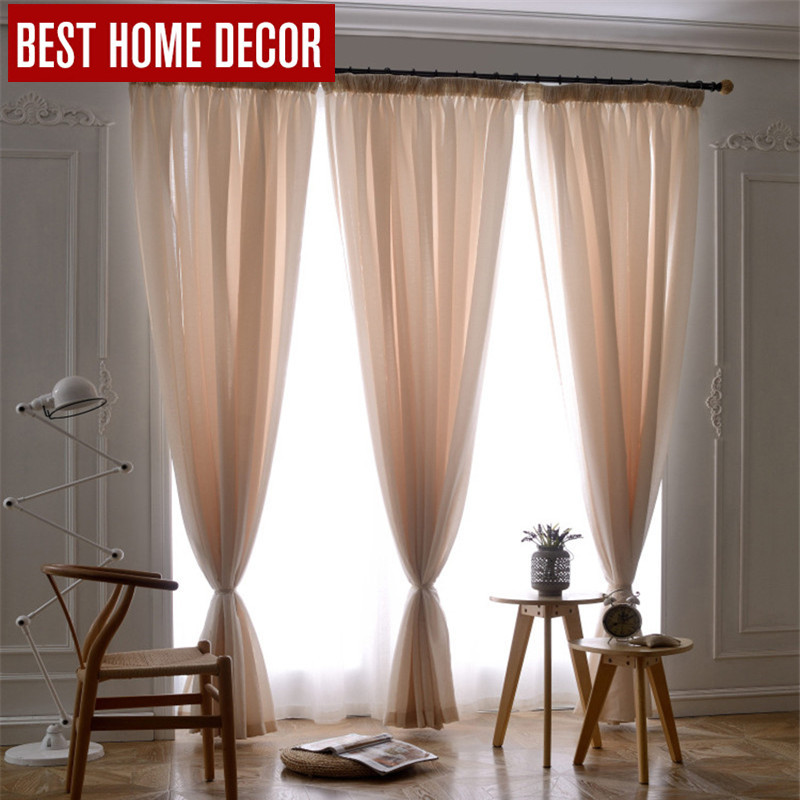Huayin Velvet Linen Curtains Tulle Window Curtain For: Aliexpress.com : Buy BHD Tailor Made Linen Tulle Curtain