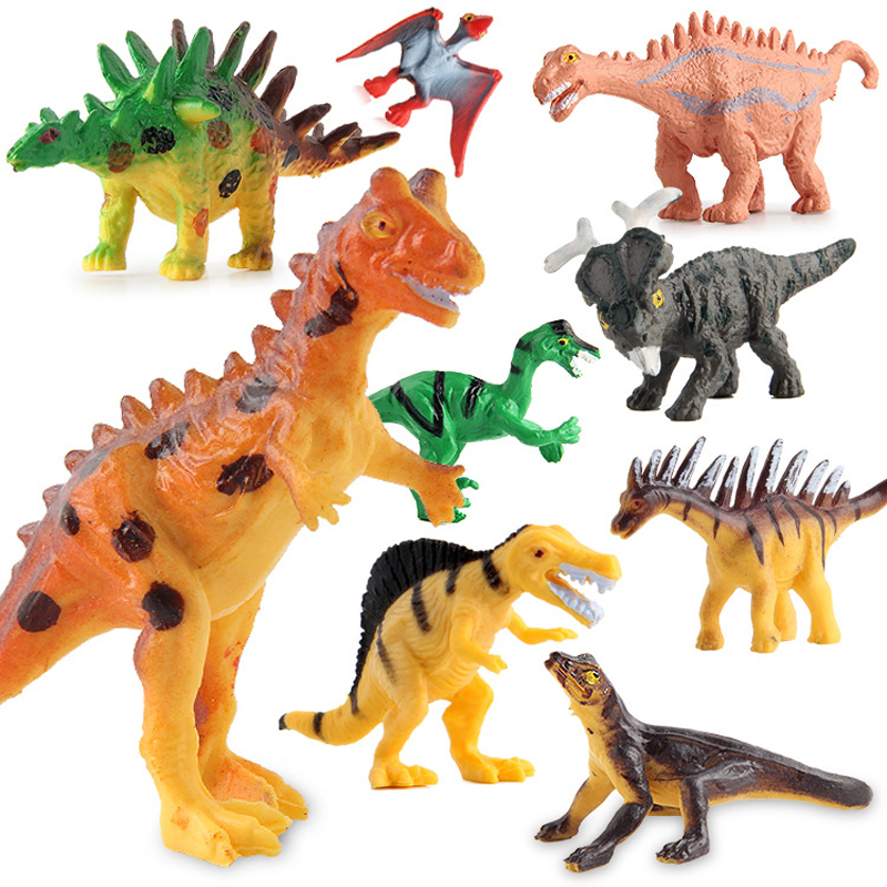 12pcs/set Dinosaurs Plastic Model Children Simulation Animal Solid Soft Dinosaur Action Figures Toys Gift For Kids #E 12pcs set dinosaurs plastic model children simulation animal solid soft dinosaur action figures toys gift for kids e