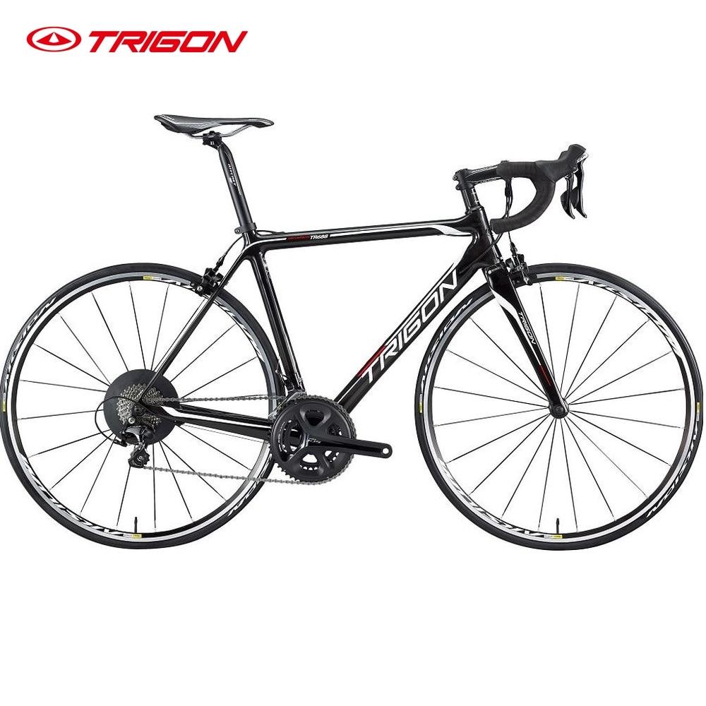 Trigon carbon bike road frame fork 52cm ultralight 11s carbon 105 5800 groupset 11s цена 2017