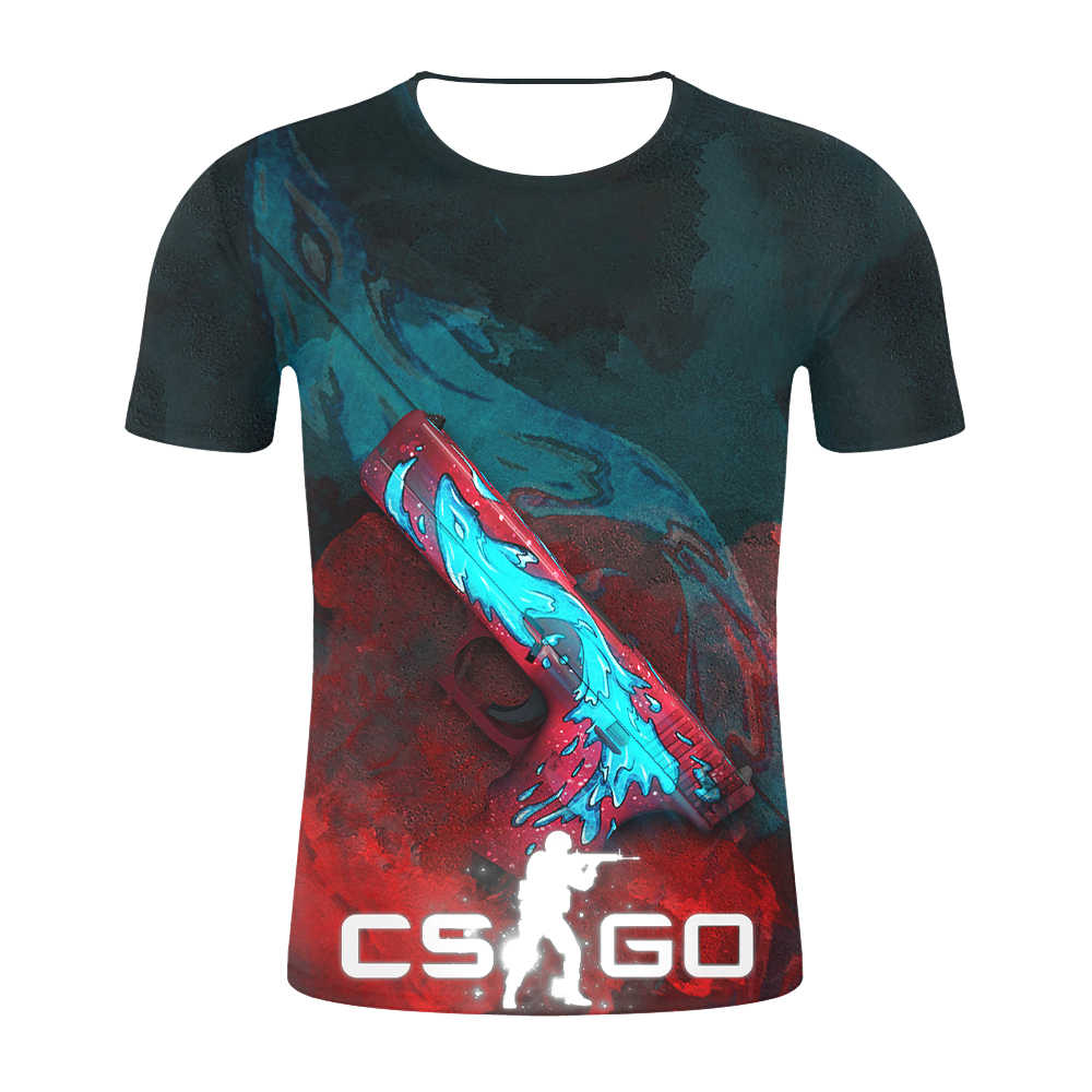 CS GO Gamer футболка 2019 наивысшего качества брендовая одежда забавная 3D Футболка Горячая счетчик Strike Global offension CSGO Мужская футболка