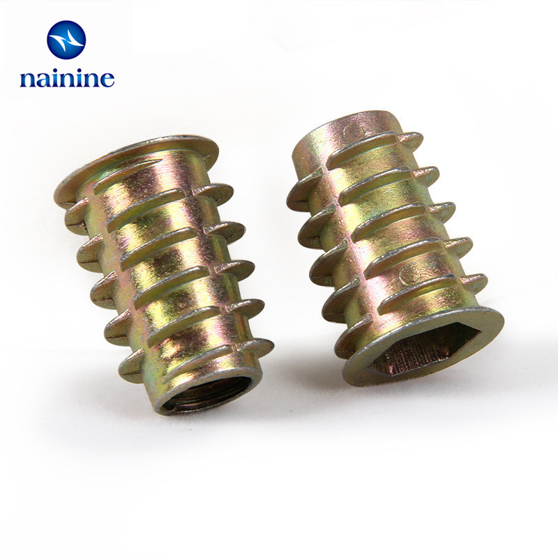 50pcs-m4-m5-m6-m8-zinc-alloy-thread-for-wood-insert-nut-flanged-hex-drive-head-furniture-nuts-hw058