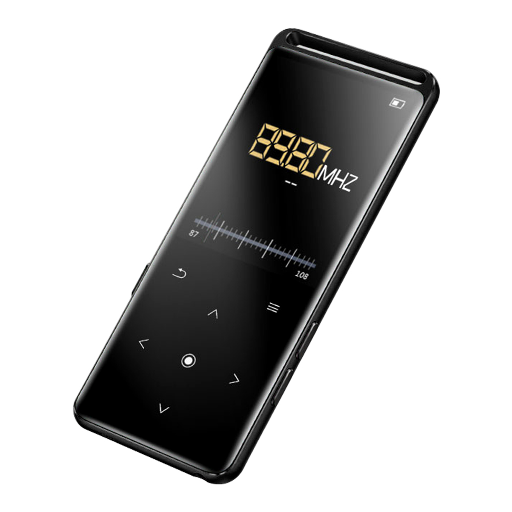 M6 Metal Ultra Thin Mini FM Radio Rechargeable Bluetooth Lossless HIFI Portable MP4 Player Voice Recorder Touch Button Sport