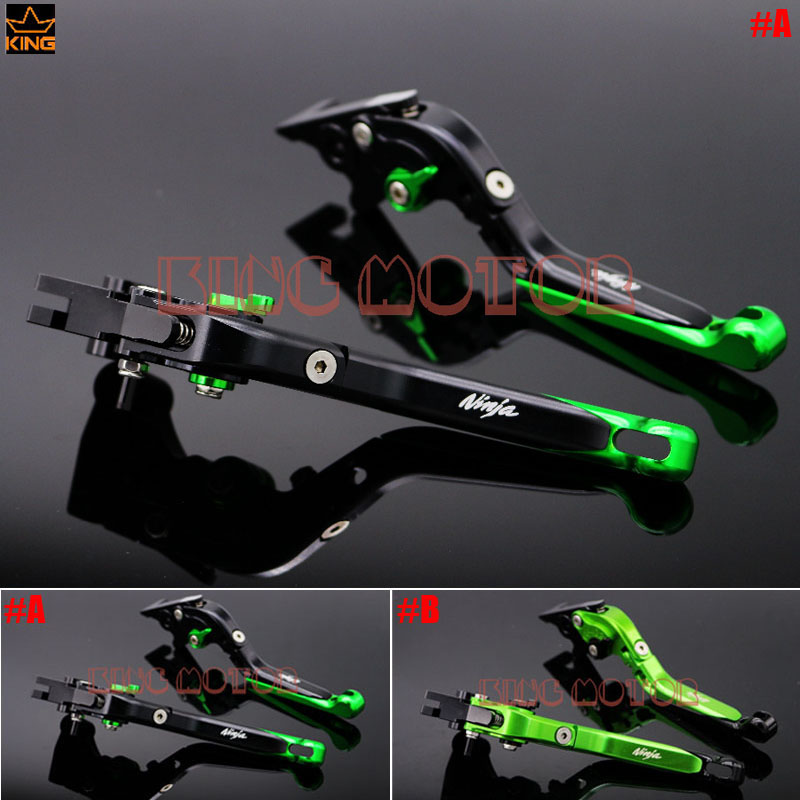 For Kawasaki Ninja 250R 2008 2015 Ninja 300R 2013 2015 CNC Adjustable Folding Extendable Brake Clutch